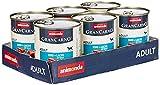 animonda Gran Carno adult Hundefutter, Nassfutter für erwachsene Hunde, Rind + Lachs mit Spinat, 6 x 800 g