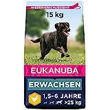 Eukanuba Hundefutter mit frischem Huhn für große Rassen - Premium Trockenfutter für ausgewachsene Hunde, 15 kg