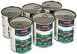 animonda Gran Carno adult Hundefutter, Nassfutter für erwachsene Hunde, Rind + Wild, 6 x 800 g
