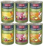 animonda GranCarno adult Superfoods Hundefutter, Nassfutter für ausgewachsene Hunde, Variation, 6 x 400 g